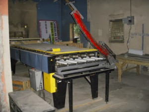 folding machine in action