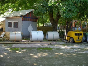 rolls of roofing
